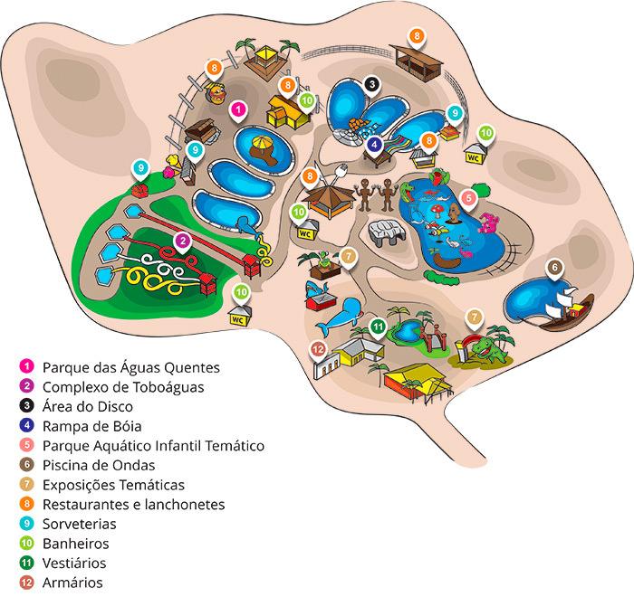 Imagem Mapa das atrações